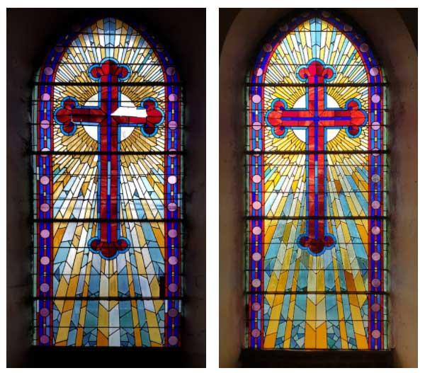 Restauration de vitrail Ruesnes