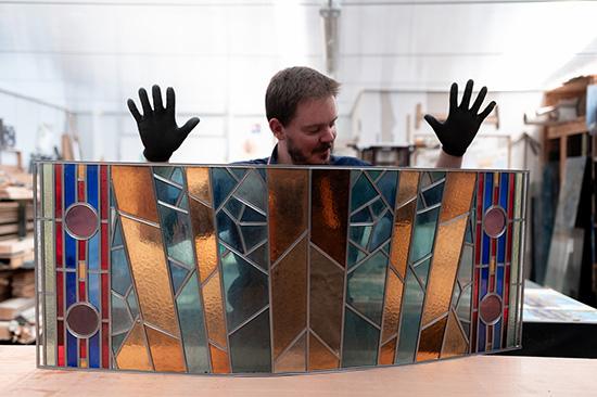 Restauration de vitrail à Lille